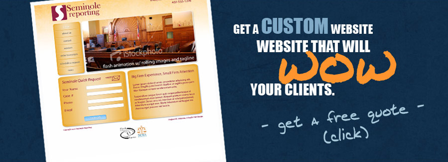 Get a custom website that will WOW your clients